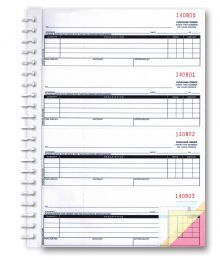 2-Part Purchase Order Books (Form# NC-124-2) IMPRINTED