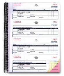 Fuel Purchase Order Books 3 Part