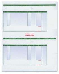 Laser Parts Invoice - Perforated