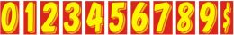 "11-1/2"" Window Sticker Numbers (Color: Yellow and Red, Number: 0)"