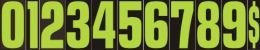 "Fluorescent Green/Black Window Stickers 9 1/2"" (Color: Fluorescent Green And Black, Number: 0)"