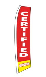 Swooper Banners - Auto Sales Slogans (Slogan: Certified Red)