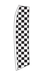 Swooper Banners - Auto Sales Slogans (Slogan: Checkered Black)